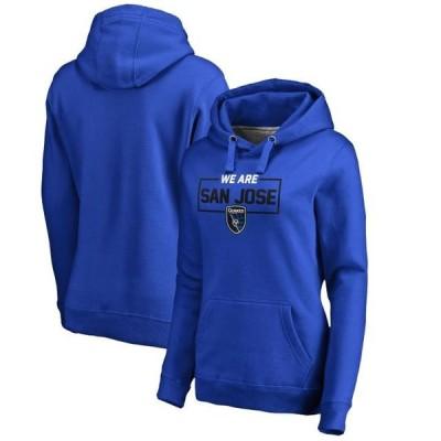 レディース スポーツリーグ サッカー San Jose Earthquakes Fanatics Branded Women's Plus Size We Are Pullover Hoodie - Blue