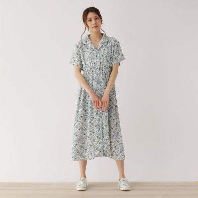 SHOO・LA・RUE/Cutie Blonde(シューラルー/キューティーブロンド)/【M-L】ボタニカル柄オープンカラーシャツワンピース