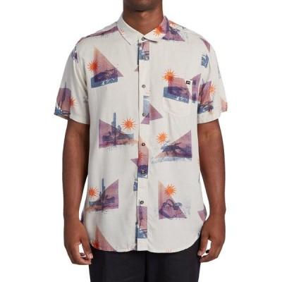 ビラボン シャツ メンズ トップス Sundays Floral Short-Sleeve Shirt - Men's Stone