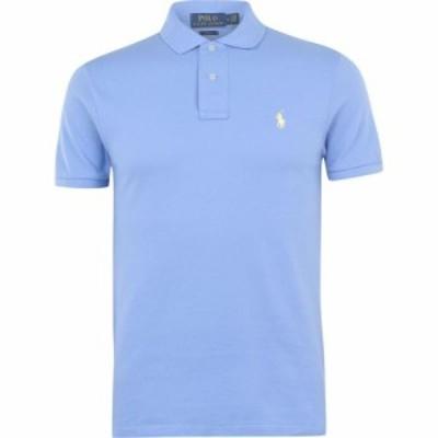 ラルフ ローレン Polo Ralph Lauren メンズ ポロシャツ トップス Slim Fit Stretch Mesh Polo Shirt Cabana Blue
