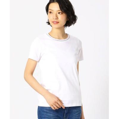 COMME CA ISM/コムサイズム 〈BASIC〉アビガイル 半袖Tシャツ ホワイト L