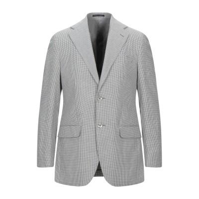 LUBIAM テーラードジャケット グレー 48 コットン 50% / リネン 50% テーラードジャケット