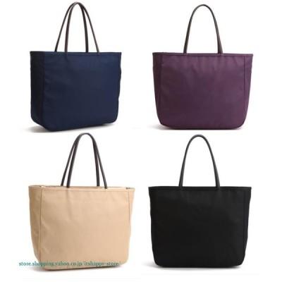 優れた品質ハンドバッグ 12カラー選べる大容量トートバッグ ナイロン  カラートート バッグ 鞄 小物 メンズ ブラック ネイビー グレー