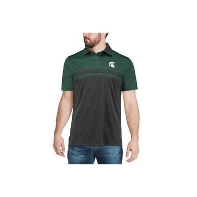大学 NCAA コロッセオ Colosseum Michigan State Spartans Heathered Green/Black Bails Polo