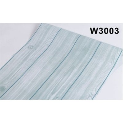 【10M 】木目調 ブルー 地中海 w3003 壁紙シール アンティーク 木目 リメイクシート 板 柄 ウォールステッカー 防水 45cm×10m はがせるタイプ