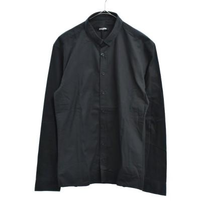 BALMAIN(バルマン)スナップボタンダウンシャツ 長袖ドレスシャツ ブラック W4HT120C320