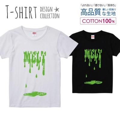 MELT Tシャツ レディース ガールズ かわいい サイズ S M L 半袖 綿 プリントtシャツ コットン ギフト 人気 流行 ハイクオリティー