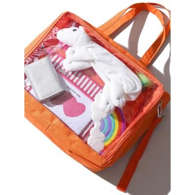 【Lサイズ】デコストラップ付きデコルームトートバッグ