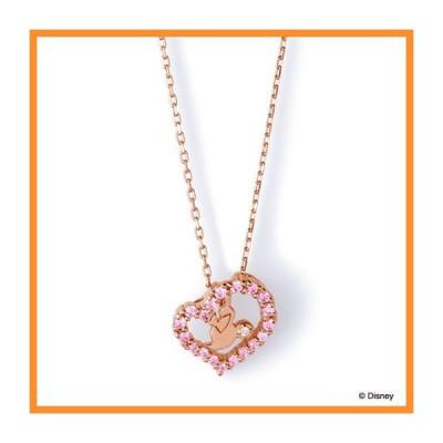 【Disney collection 〜ディズニーコレクション〜】ミニーマウス / ダイヤモンド ハート シルバー ネックレス 40cm☆シルバ- 首飾り ブランド ザキッス