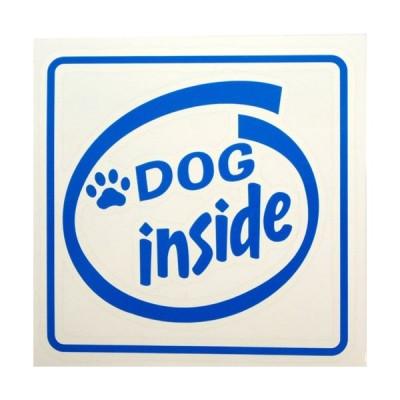 Dog inside(スカイブルー)シリウス製ステッカー 車用 カー用品 デカール シール ステッカー