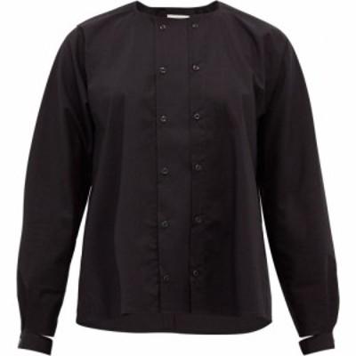 トゥーグッド Toogood レディース ブラウス・シャツ トップス The Chef buttoned cotton-poplin blouse Black