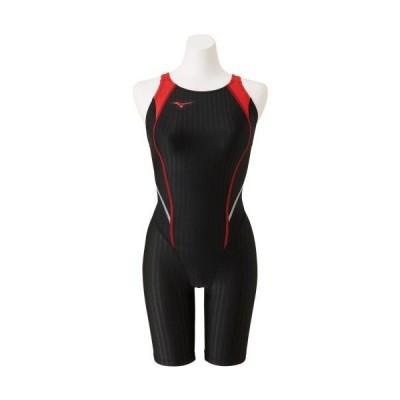 ミズノ 競泳用ハーフスーツ(マスターズバック)[レディース] 96&nbspブラック×レッド(n2mg024096)