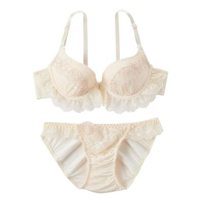 ローズラインフレアレース ブラジャー・ショーツセット(D75/M) (ブラジャー&ショーツセット)Bras & Panties