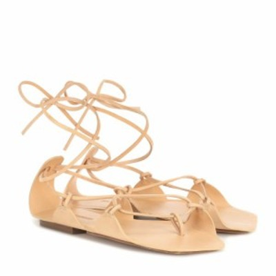 ジル サンダー Jil Sander レディース サンダル・ミュール シューズ・靴 leather sandals Cognac