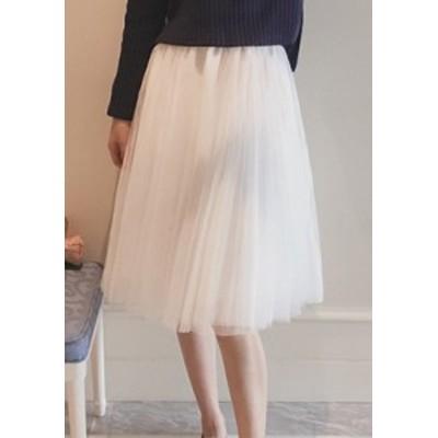 ミディチュールプリーツスカート ホワイト ブラック 女子会 イベント