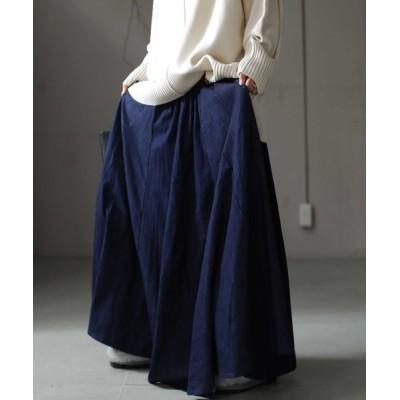 antiqua / デザインデニムスカート WOMEN スカート > デニムスカート