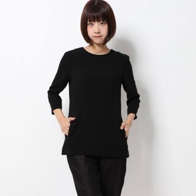 リネーム Rename 七分丈切替えラインプルオーバー (ブラック)