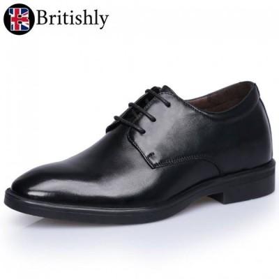 Britishly(ブリティッシュリィ) Shropshire (Dress Formal) 7cmアップ 英国式シークレットシューズ
