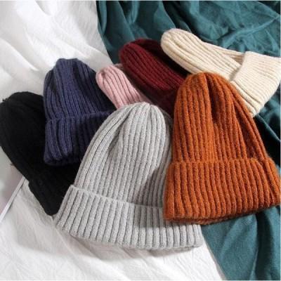 帽子 レディース 冬 キャスケット ハット ニットキャップ ベレー帽 キャップ ぼうし 秋冬 シンプル 無地 暖か い
