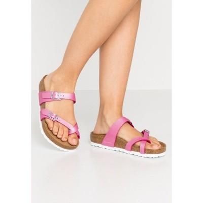 ビルケンシュトック サンダル レディース シューズ MAYARI - T-bar sandals - icy metallic/fuchsia tulip