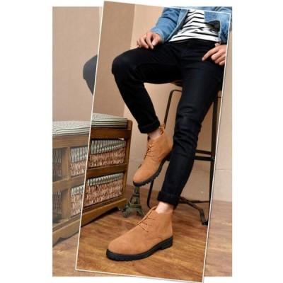 チャッカブーツ ワークブーツ ブーツ メンズ ショートブーツ 厚底 オシャレ 冬靴 イギリス風 カジュアル 合成革靴 通勤 通学 プレゼント