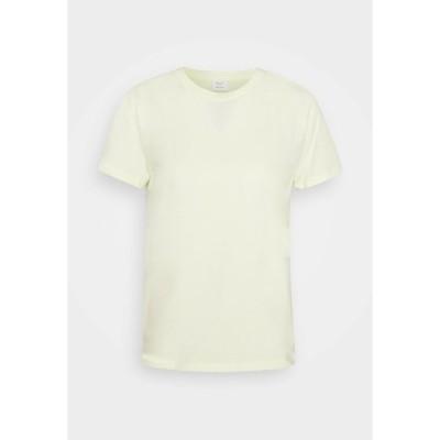 マルコポーロ ピュア Tシャツ レディース トップス BOXY SHORT SLEEVE CREW - Basic T-shirt - light yellow