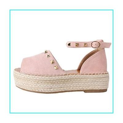 LAICIGO Womens Espadrilles Platform Sandals Ankle Strap Peep Toe Cut Out Dress D'Orsay Shoes