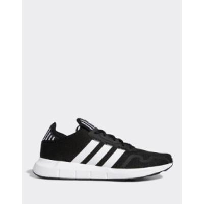 アディダス メンズ スニーカー シューズ adidas Originals Swift Run X sneakers in black and white Black/white