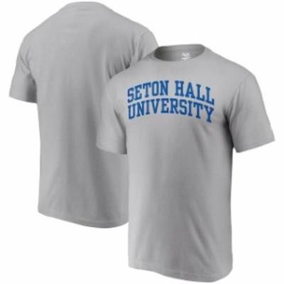 Alta Gracia アルタ グラシア スポーツ用品  Alta Gracia (Fair Trade) Seton Hall Pirates Heathered Gray Arched Wordmark T-Shirt