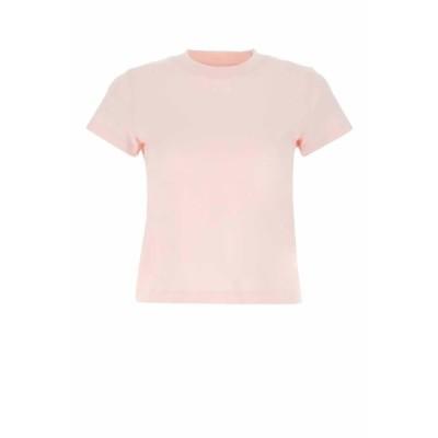 アレキサンダーワン レディース Tシャツ トップス T By Alexander Wang Shrunken Logo T-Shirt -