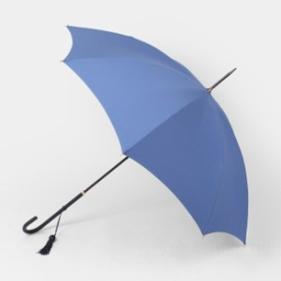フォックスアンブレラ FOX UMBRELLAS 雨傘 雨具 高級長傘 SLIM LEATHER CROOK ALA BLUE WL1【送料無料】