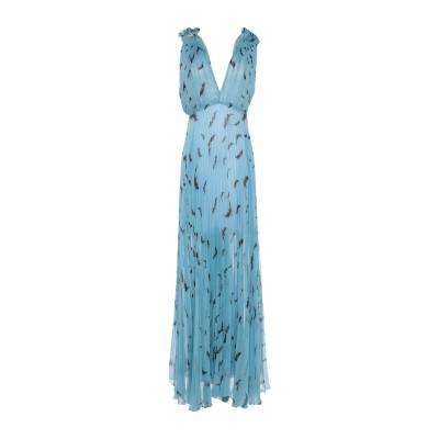 ELISABETTA FRANCHI ロングワンピース&ドレス スカイブルー 38 ポリエステル 100% / ナイロン ロングワンピース&ドレス