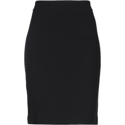 エンポリオ アルマーニ EMPORIO ARMANI ひざ丈スカート ブラック 46 ウール 100% ひざ丈スカート