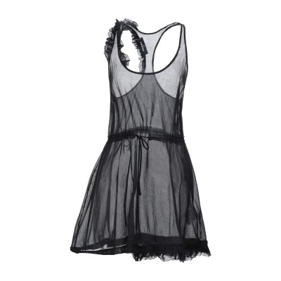 ディースクエアード DSQUARED2 ミニワンピース&ドレス ブラック 38 ポリエステル 61% / シルク 39% ミニワンピース&ドレス