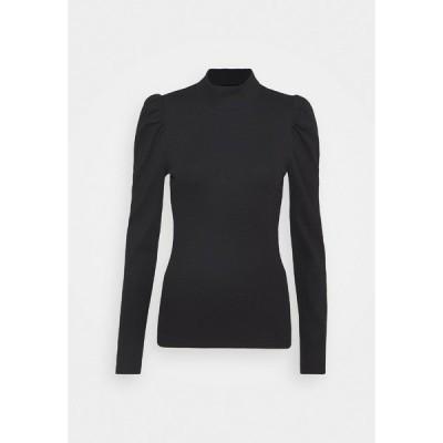 ピーシーズ カットソー レディース トップス PCANNA - Long sleeved top - black