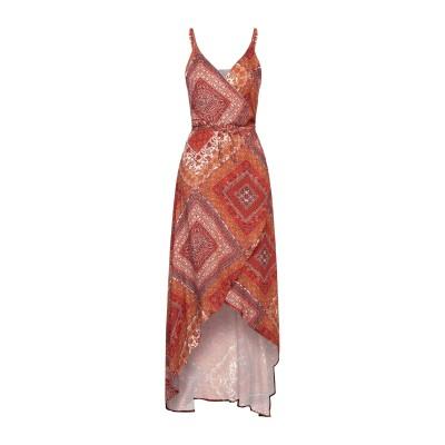 スーベニア SOUVENIR 7分丈ワンピース・ドレス オレンジ M レーヨン 100% 7分丈ワンピース・ドレス