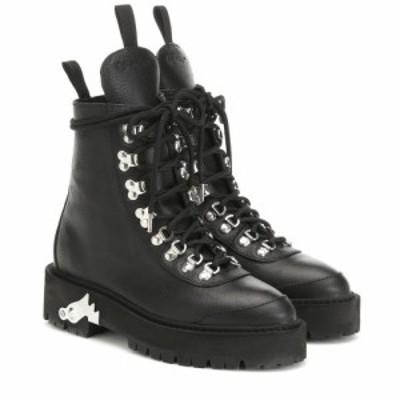 オフ-ホワイト Off-White レディース ブーツ シューズ・靴 Leather ankle boots Black No C
