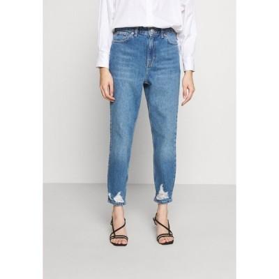 トップショップ デニムパンツ レディース ボトムス MOM RIP HEM - Relaxed fit jeans - blue denim