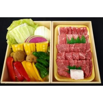35-4 黒田庄和牛と七色の野菜バーベキューセット(モモ、バラ計500g)