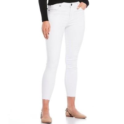 カットフロムザクロス レディース デニムパンツ ボトムス Connie High Rise Raw Hem Ankle Skinny Jeans Optic White