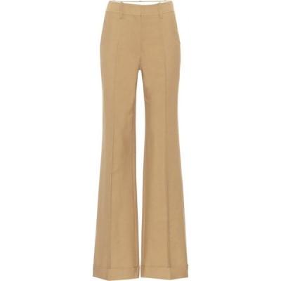 ヴィクトリア ベッカム Victoria Beckham レディース ボトムス・パンツ High-rise cotton-blend pants Taupe
