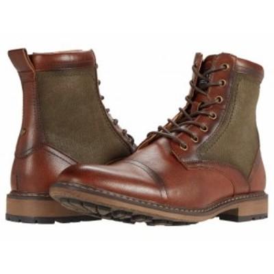 Steve Madden スティーブマデン メンズ 男性用 シューズ 靴 ブーツ レースアップ 編み上げ Bunsin Lace-Up Boot Cognac【送料無料】