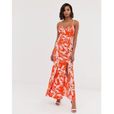 ワイ エー エス Y.A.S レディース ワンピース ワンピース・ドレス floral fishtail maxi dress Multi