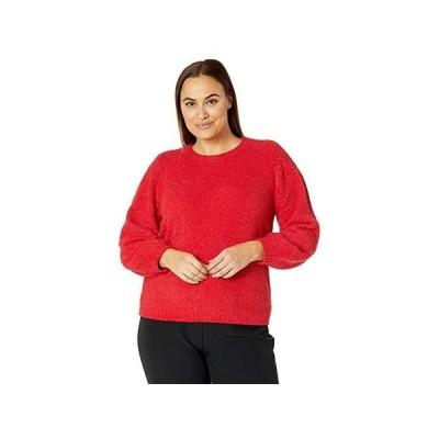 マイケル コース Plus Size Texture Puff Sleeve Sweater レディース セーター Crimson
