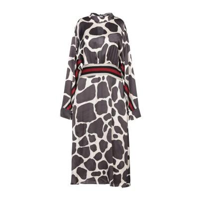 DIMORA 7分丈ワンピース・ドレス スチールグレー 44 レーヨン 100% 7分丈ワンピース・ドレス