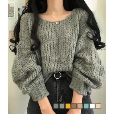 gifteabox レディース ニット/セーター Soft and loose nagrand alpaca knit