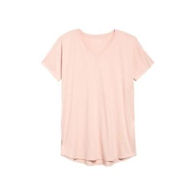 エイリーンフィッシャー レディース Tシャツ トップス V-Neck Tunic POWDR