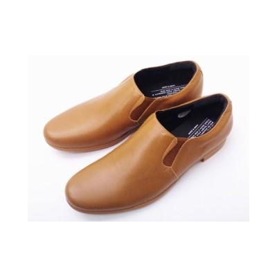 トラベルシューズバイショセ MEN'S スリッポン TR-003M LBR ライトブラウン 靴 メンズ