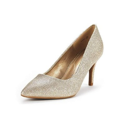 DREAM PAIRS Women's KUCCI Gold Glitter Classic Fashion Pointed Toe High Heel Dress Pumps Shoes Size 11 M US【並行輸入品】