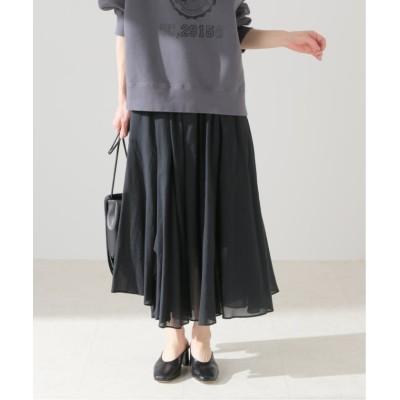(FRAMEWORK/フレームワーク)ボイルレギュラーヘムマキシスカート/レディース ブラック